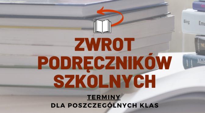 ZWROT PODRĘCZNIKÓW SZKOLNYCH <font color=orange>ORAZ KLUCZYKÓW DO SZAFEK </font>