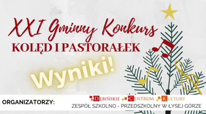 Gratulacje dla wszystkich uczestników XXI Gminnego Konkursu Kolęd i Pastorałek